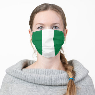 Nigeria country flag symbol nation adult cloth face mask