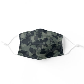 Night Military Green, Brown Camo Desert Camouflage Adult Cloth Face Mask