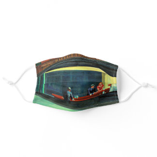 Nighthawks, famous painting by Edward Hopper Adult Cloth Face Mask