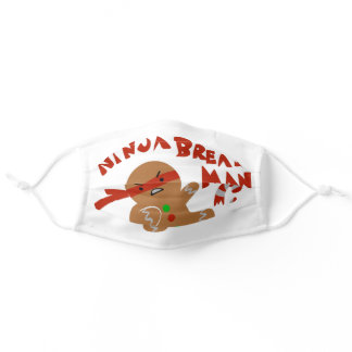Ninja Bread Man Adult Cloth Face Mask