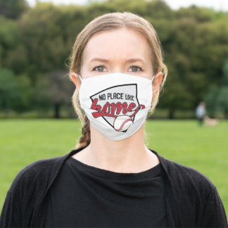 No Place Like Home, Baseball - GraphicLoveShop Adult Cloth Face Mask