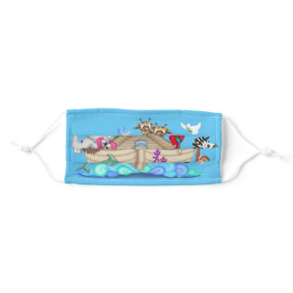 Noah's Ark and animals Adult Cloth Face Mask
