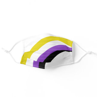 Non-Binary Rainbow Adult Cloth Face Mask