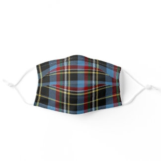 North Carolina State Clan Tartan Plaid Pattern Adult Cloth Face Mask