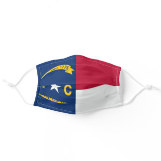 North Carolinian flag, American state flag Adult Cloth Face Mask