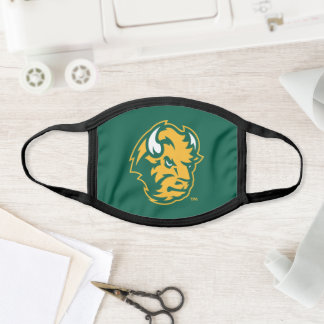 North Dakota State Bison Head Face Mask