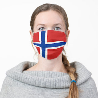 Norway flag adult cloth face mask