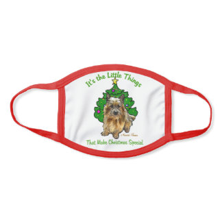 Norwich Terrier Christmas Face Mask