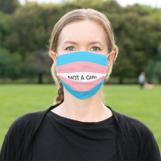 Not a Girl Trans Flag Adult Cloth Face Mask