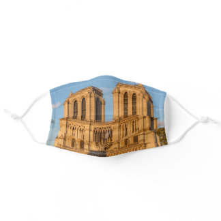 Notre Dame de Paris at Golden Hour - Paris Adult Cloth Face Mask