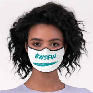 nsfw women's face mask, not safe for work premium face mask