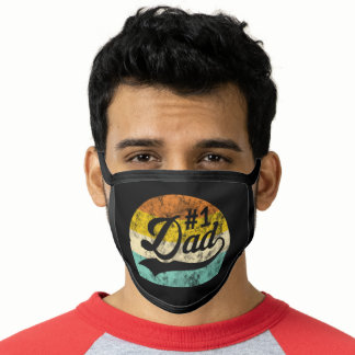 Number One Dad Father's Day Retro Vintage Face Mask