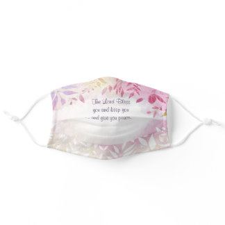 Numbers 6:24,26 The Lord Bless You, Bible Verse Adult Cloth Face Mask