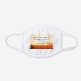 "Numbers 6:24-26 ""The Lord Bless You"" Bible Verse White Cotton Face Mask"