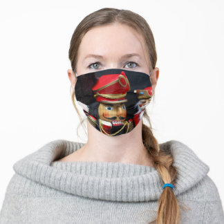 Nutcrackers on dark background adult cloth face mask