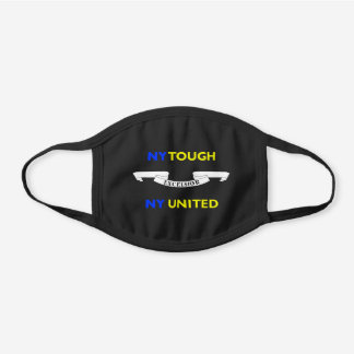 NY Tough New York United Excelsior Black Cotton Face Mask