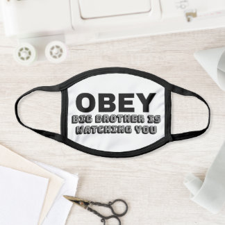 """OBEY - Big Brother Is Watching You"" Face Mask"
