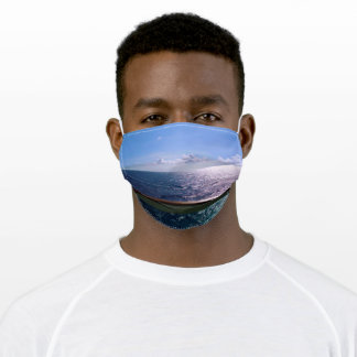 Ocean Blue Scenic Adult Cloth Face Mask