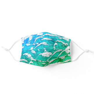 Ocean Waves Beach Adult Cloth Face Mask