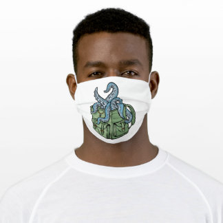 Octopus comes out of the bag adult cloth face mask