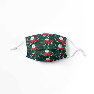 Octopus in Santa Outfit Christmas Holiday Kids' Cloth Face Mask