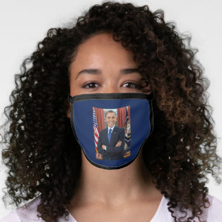 Official Oval Office Portrait President Obama Face Mask