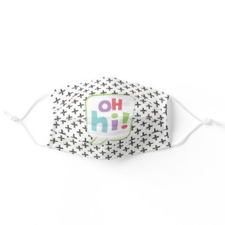 Oh Hi! Colorful Speech Bubble Adult Cloth Face Mask