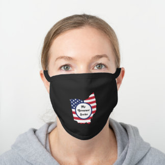 Ohio My Governor Sucks with USA Flag Design Black Cotton Face Mask