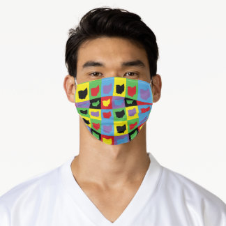 Ohio Pop Art Pattern Colorful Adult Cloth Face Mask