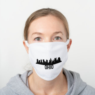 Ohio US State Design For Ohioans Americans White Cotton Face Mask