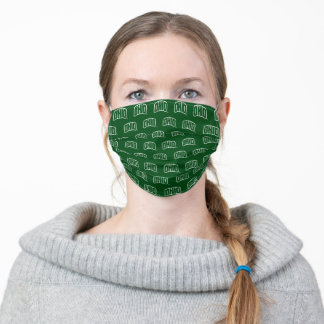 Ohio Wordmark Green Pattern Adult Cloth Face Mask