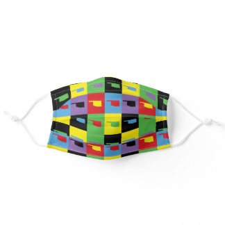 Oklahoma Pop Art State Colorful Pattern Adult Cloth Face Mask