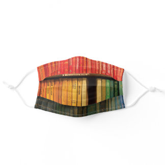 Old Books colorful Adult Cloth Face Mask