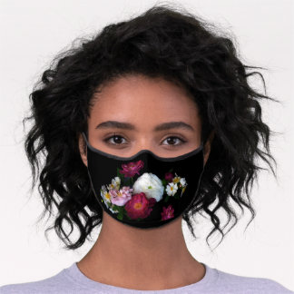 Old Fashioned Rose Flower Premium Face Mask