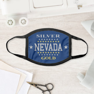 Old Flag of Nevada Face Mask