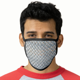 Old Steel Wall Background Pattern Face Mask