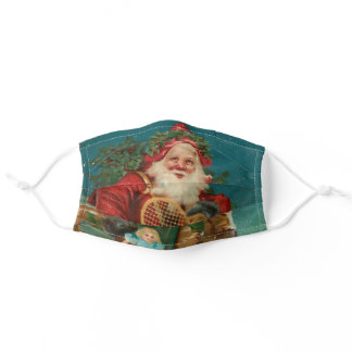 Old World Father Christmas with Presents Adult Cloth Face Mask