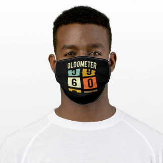 Oldometer 60th Birthday Gift Adult Cloth Face Mask