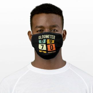 Oldometer 70th Birthday Gift Adult Cloth Face Mask