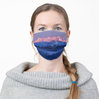 Olympic Mountain Range Face Mask