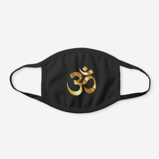 Om symbol cotton face mask