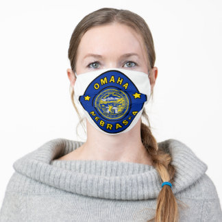 Omaha Nebraska Adult Cloth Face Mask