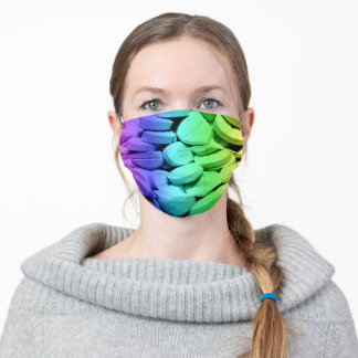 ombre pills adult cloth face mask