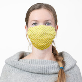 Ombre Stencil Chevron pattern yellow Adult Cloth Face Mask