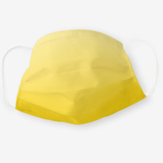 Ombre Yellow Cloth Face Mask