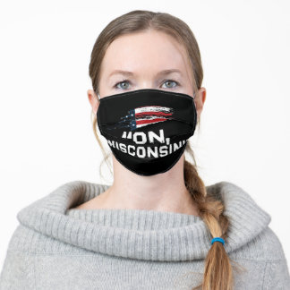 """""""On Wisconsin"""" Civil War Face Mask"""
