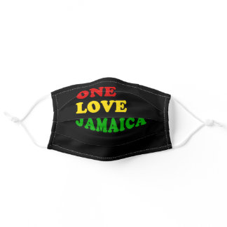 One Love Jamaica Red Gold Green Adult Cloth Face Mask