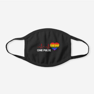 One Pulse Black Cotton Face Mask