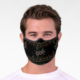 OOF! Video Gamer Ugly Christmas Sweater Premium Face Mask