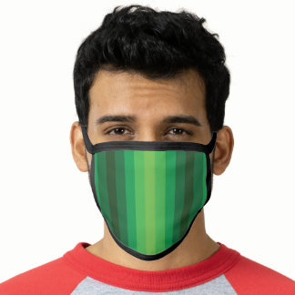 Optical Illusion Green Face Mask